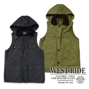 【WESTRIDE ウエストライド】ベスト/15FW SEVEN POCKET HUNT VEST ★REAL DEAL