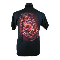 Dragon Fear No Evil 消防Tシャツ SH