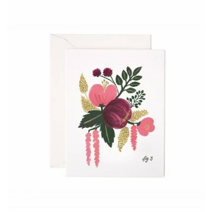 RIFLE PAPER CO. | RASPBERRY FLORAL | グリーティングカード