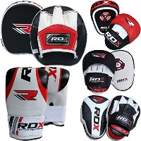 RDX Boxing フォーカス Bag MMA Training Punching Hook & Jab Strike Pads Traget With Bag Mitts (海外取寄せ品)