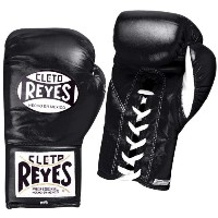 Cleto Reyes Safetec Professional Boxing Fight グローブ - 8 oz - ブラック (海外取寄せ品)