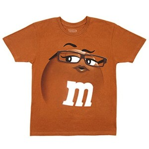 m&m's ADULT TEE(BROWN)アダルト Tシャツ(ブラウン)