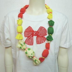 【SALE 50%OFF】FRANKY GROW ( フランキーグロウ) CANDY RIBBON NECKLESS ネックレス オケージョン キッズ 子供服