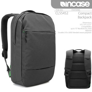 INCASE Compact Backpack CL55452 BLACK インケース バックパック バッグ リュック Macbook AIR iPad