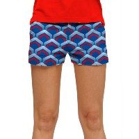 LoudMouth Ladies Lounge Lizard Blue Shorts (#SS)【ゴルフ レディース>パンツ】