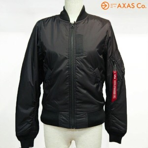 【plokh】 ALPHA (アルファ) ALPHA MA-1 TIGHT LIGHT-SHELL TA7021(LADYS) Col.BLACK