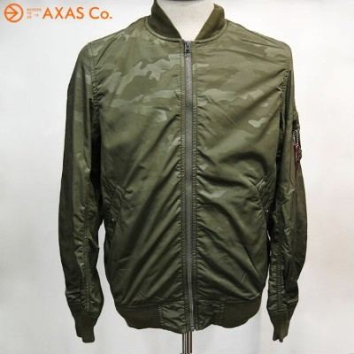 【plokh】 ALPHA (アルファ) ALPHA MA-1 CAMO BONDING TA1112(MENS) Col.A.GRN CAMO