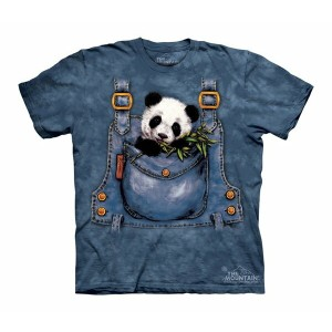 Tシャツ The Mountain: Panda in Overalls (キッズ 動物園 パンダ)