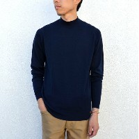 JOHN SMEDLEY(ジョン・スメドレー)/ HARCOURT PULLOVER MOCK TURTLE LS -MIDNIGHT-