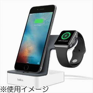 ベルキン F8J200QEWHT PowerHouse充電ドック〔Apple Watch/iPhone用〕