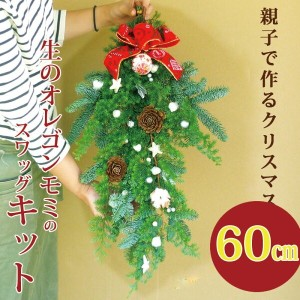 キット『クリスマススワッグキット』生花 予約 キット 材料 クリスマスリースの花材 手作り  クリスマススワッグ おしゃれ 自分で作る