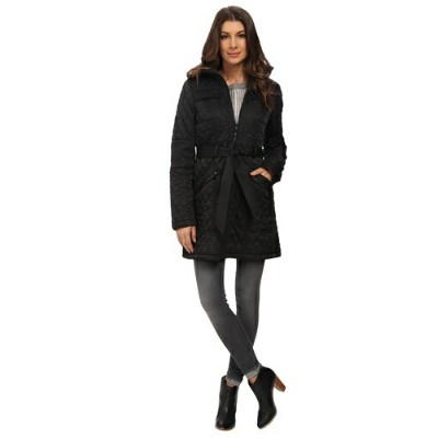 Vince Camuto ヴィンスカムート キルト ロングジャケット Vince Camuto Belted Quilted Long Jacket J1641 Size: MD (US 8-10)