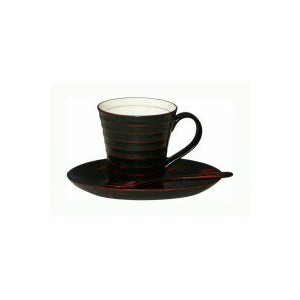 OH19-8 丸十 陶胎 コーヒーカップセット箱入 曙