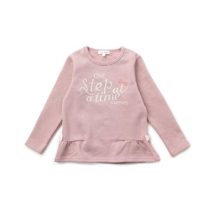 【3can4on(Kids) (サンカンシオン)】裏起毛リボンカットソーキッズ トップス|カットソー・Tシャツ ピンク系