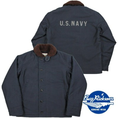 "BUZZ RICKSON'S/バズリクソンズ Jacket, Deck, Zip Type N-1 NAVY""NAVY DEPARTMENT""DEMOTEX-ED N-1デッキジャケット/N..."