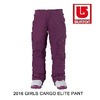 2016 BURTON バートン パンツ YOUTH GIRLS ELITE CARGO PANT GRAPESEED