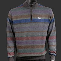 ピーターミラー スコッティキャメロン セーター Scotty Cameron Peter Millar - Qtr. Zip - Italian Multi-Stripe
