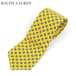 POLO by Ralph Lauren Silk Necktie (YELLOW) US ポロ ラルフローレン シルク ネクタイ ペイズリー