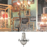 【送料無料】 【代引不可】 【メーカー直送】 SHABBYCHIC CHANDELIER 8 BULBS GRAY sp-zrfr1070