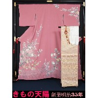【T★S】【新品】 着物セット 訪問着と西陣袋帯、帯揚げ、帯〆の4点セット 落款有り★送料無料(Free shippinng only in Japan)【リサイクルきもの・リサイクル着物・通販...