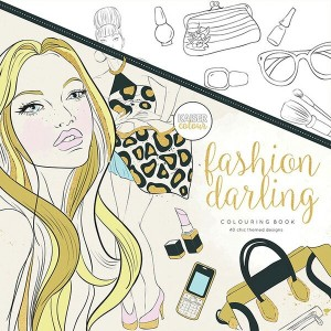 KAISERCRAFT カラーリングブック CL512 Fashion Darling Colouring 【デザイン文具】【 プレゼント ギフト 】【万年筆・ボールペンのペンハウス】 (2500)
