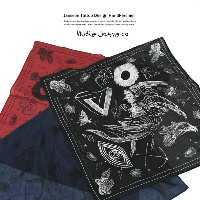 Nudie Jeans JANSSON TATTOO バンダナ ハンカチ プリント Nudie Jeans ヌーディージーンズ 180681 6715