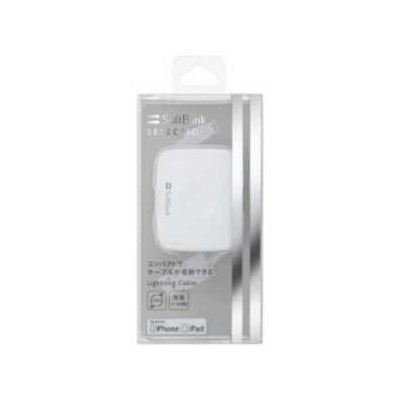 【正規代理店品】 SoftBank SELECTION 巻き取り式 USB Cable with Lightning Connector ホワイト SB-CA35-APMT/WH