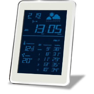 HOUSE USE PRODUCTS(ハウスユーズプロダクツ) LCD表示 電波置き掛け時計 AIR-CONDITION-CLOCK Dayton BLUE ACL078 [正規代理店品]