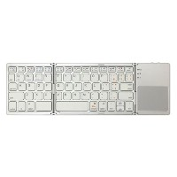 グラントン タブレット用Bluetoothキーボード Tri-folding Bluetooth Keyboard with Track Pad ホワイト GK940-WH