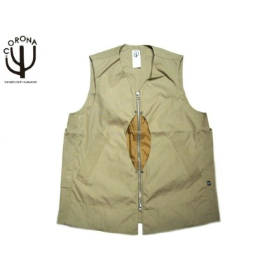 【期間限定30%OFF!】CORONA(コロナ)/#CV032-17-02 T/C WEATHER CLOTH EXPLORER'S UTILITY OUTER VEST/beige【アウトレット】