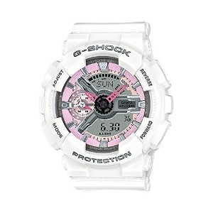 Casio(カシオ) 腕時計 G-Shock GMAS110MP-7A S Series Analog Digital White Watch レディース