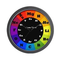 CafePress Artistic Chemistry Clock Wall Clock - Standard Multi-color [Kitchen] by CafePress [並行輸入品]