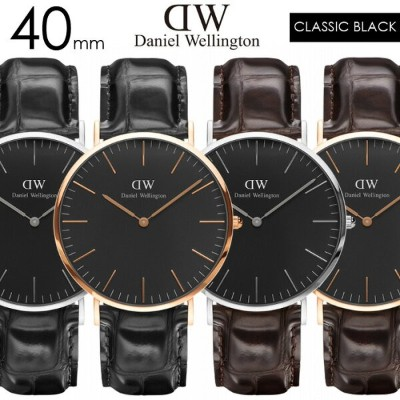 ダニエルウェリントン【Daniel Wellington】CLASSIC BLACK 40mm RoseGold SILVER