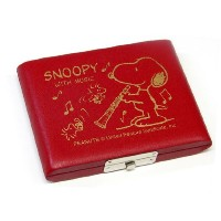 SNOOPY BAND COLLECTION スヌーピーリードケース B♭クラリネット(5枚入)レッド SCL-05R