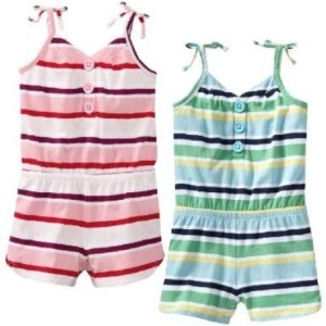 OLD NAVY ボーダー コンビネゾン 【ピンク・ブルー】 【1歳~3歳】 (並行輸入品) (12-18M (1歳~1歳半), ブルー)