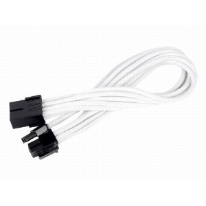 SilverStone PCIE-6+2pin Power Cable White SST-PP07-PCIW