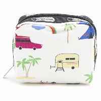 (レスポートサック)LeSportsac 6701 Roadtrip Vaca Cream Square Cosmetic [並行輸入品]