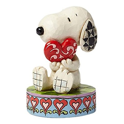 enesco PEANUTS DESIGNS BY JIM SHORE フィギュア スヌーピー Holding Heart  #4049396 4049396