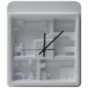 HOUSE USE PRODUCTS(ハウスユーズプロダクツ) 掛け時計 PAPER WALL CLOCK FLOOP WHITE HFT162 [正規代理店品]