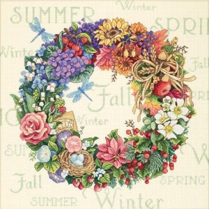 DIM クロスステッチキット Wreath Of All Seasons 【並行輸入品】 Dimensions Needlecrafts Counted Cross Stitch Wreath Of...