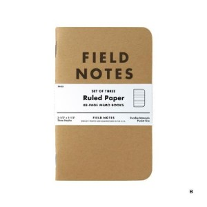 FIELD NOTES 3-PACKS (B)横罫 [FB001]