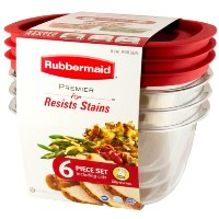 Rubbermaid ラバーメイド Resists Stains 3.3L×3個 6ピース 保存容器 お弁当箱 プレミア PREMIER BPA FREE アメリカ製
