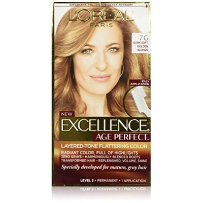 L'Oreal Paris Hair Color Excellence Age Perfect Layered-Tone Flattering Color Dye, Dark Natural...