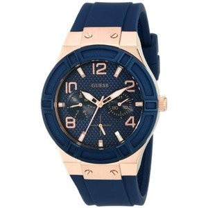 腕時計 ゲス GUESS Women's U0571L1 Iconic Blue Multi-Function Watch with Day, Date & Comfortable Silicone...