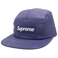 SUPREME Rafia Basketweave Camp Cap キャップ Blue [並行輸入品]