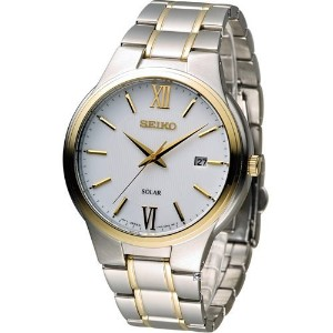 Watch Seiko Solar SNE388P1 Men´s White 《逆輸入品》