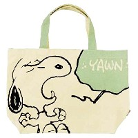 SNOOPY ビッグトートバッグ あくび SP-0004B