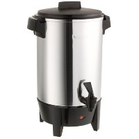 West Bend Dba/Focus Electrics 30-Cup Polished Aluminum Coffee Urn - 58030