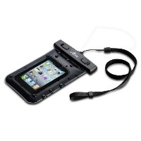 Acase 防水ケース ブラック ストラップ 付 for iPhone4S / iPhone4 / iPhone3G / iPod touch / GALAXY S Waterproof シースルー...
