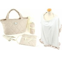 Thea Thea Sara Diaper Bag in Ivory by Thea Thea Baby Bags